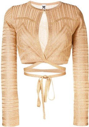 M Missoni patterned tie waist cardigan