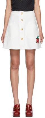 Gucci White Cherry Miniskirt