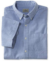 L.L. Bean Seersucker Shirt, Traditional Fit Short-Sleeve Gingham