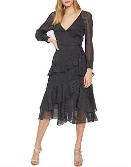 Cooper St Paige Long Sleeve Wrap Dress
