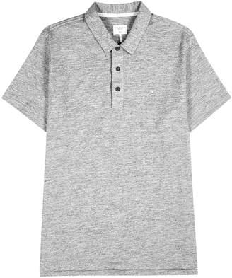 Rag & Bone Grey Melange Cotton-blend Polo Shirt