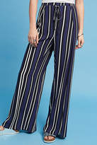 Maeve Navy Striped Wide-Legs
