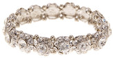 Natasha Accessories Round Station Crystal Stretch Bracelet