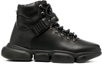 Moncler Leather High-Top Sneakers