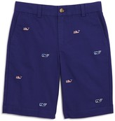 Vineyard Vines Boys' Flag Whale Embroidered Shorts
