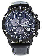 Citizen BL5259-08E Chronograph Eco-Drive Black Leather Strap Watch 1 Pc Watches