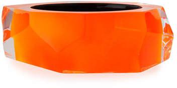 Alexis Bittar Faceted Lucite Bangle Bracelet, Orange