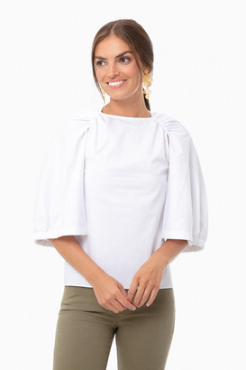 Tibi Eco Poplin Cape Top