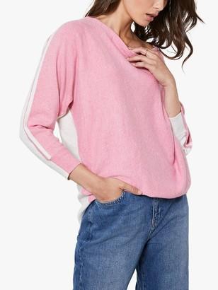 Mint Velvet Batwing Cowl Neck Jumper, Pink
