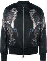Neil Barrett hawk print bomber jacket
