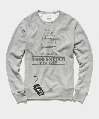 Todd Snyder X Peanuts Peanuts City Collection Todd Snyder Crewneck Sweatshirt in Grey Heather