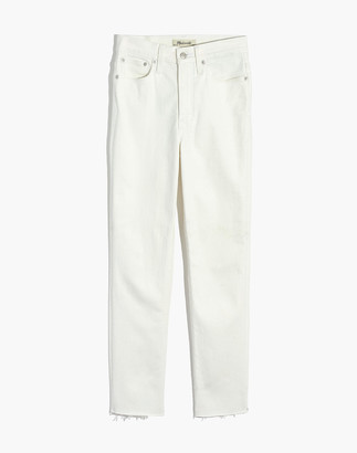 Madewell The Petite Perfect Vintage Jean in Tile White: Raw-Hem Edition