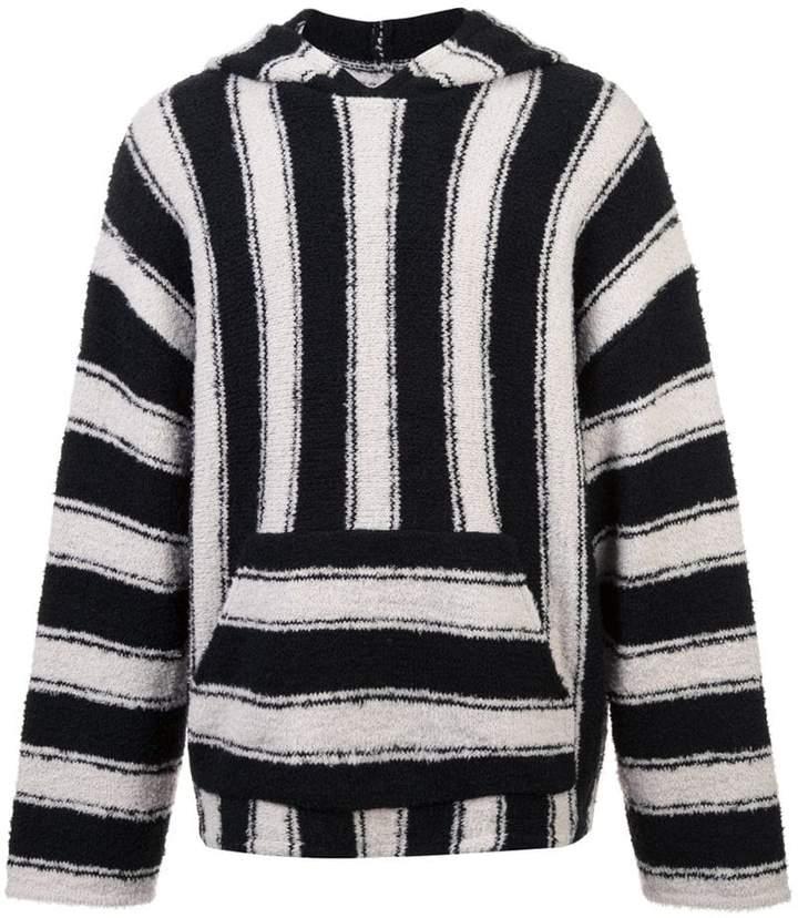 Amiri striped hooded jumper