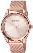 Ellen Tracy Women's Quartz Metal and Alloy Watch, Color:Rose Gold-Toned (Model: ET5180RG)