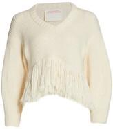 Thumbnail for your product : Alejandra Alonso Rojas Fringe Hem Sweater