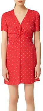 Maje Ripia Polka-Dot Mini Dress