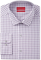 Alfani Men's Fitted Performance Stretch Easy Care Grape Gingham Dress Shirt, Only at Macy's
