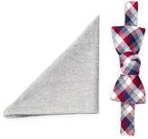 Original Penguin Marmont Check Bow Tie & Pocket Square Set