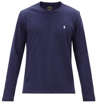 Polo Ralph Lauren Logo-embroidered Cotton Long-sleeve T-shirt - Navy