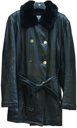 Burberry Black Fur Coat for Women Vintage