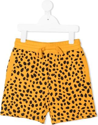 Stella McCartney Kids Cheetah dots-print fleece shorts