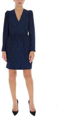 Stella McCartney Horse Jacquard V-Neck Dress