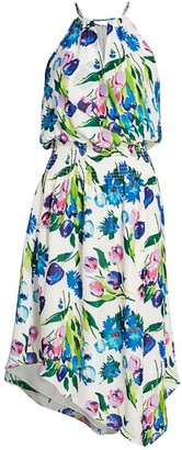 Parker Herley Floral Halter Dress