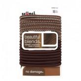 Scunci No Damage Beautiful Blends Hair Elastics Brunette 18 pack