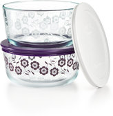 Pyrex Flower 4-Pc. Storage Set