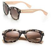 Fendi Colorblock Square Acetate Sunglasses