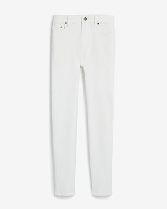 Express Super Skinny White Hyper Stretch Jeans
