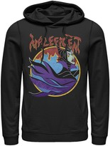 Disney Men's Sleeping Beauty Maleficent Vintage Flame Portrait Hoodie