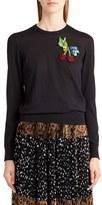Dolce & Gabbana Women's Embellished Silk Sweater