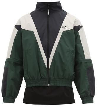 Vetements Logo-print Zip-away Sleeves Track Jacket - Mens - Black Green