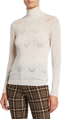 Adam Lippes Lightweight Cashmere Floral Sweater
