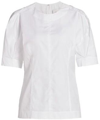 3.1 Phillip Lim Back Zip Short Sleeve Top
