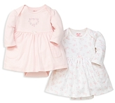 Little Me Girls' Floral Bodysuit Dress, 2 Pack - Baby