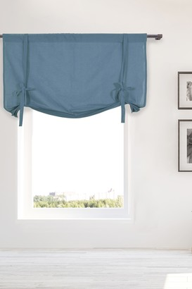 Duck River Textile Kimi Solid Tie Up Curtain - Slate Blue
