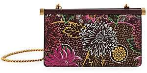 Valentino Women's Garavani Carry Secrets Floral-Print Leather Clutch