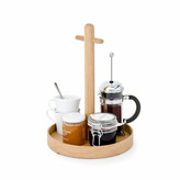 Thumbnail for your product : Wireworks Natural Oak Round Condiment Tray
