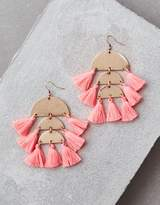 American Eagle Outfitters AE Blush 3 Tier Tassel Earring