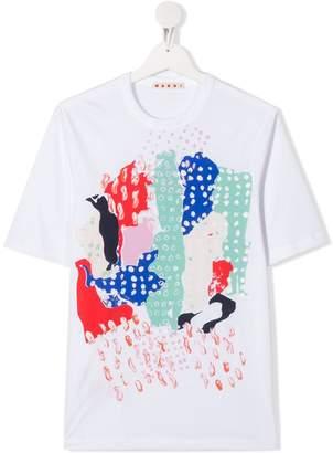 Marni TEEN abstract print T-shirt