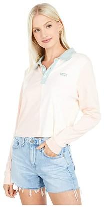 Vans Core Skate Long Sleeve Crop Polo (Peachy Keen) Women's Clothing