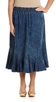 Reba Plus Basic Denim Skirt