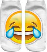 Jiayiqi Interesting Laugh and Cry Facial Expressions Crew Socks Girls Coze Emoji Socks