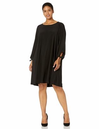 Karen Kane Women's Plus Size TIE-Sleeve Swing Dress