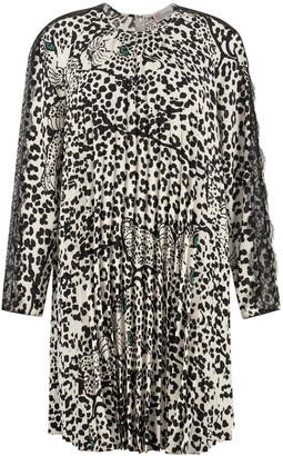RED Valentino Printed Pleated Dress