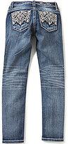 Miss Me Girls Big Girls 7-16 Embroidered-Pocket Skinny Jeans