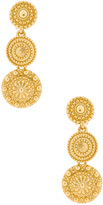 Oscar de la Renta Textured Metal Disc Earring