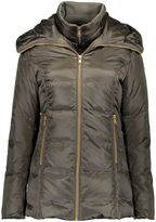 Hawke & Co Olive Hooded Double-Collar Puffer Coat